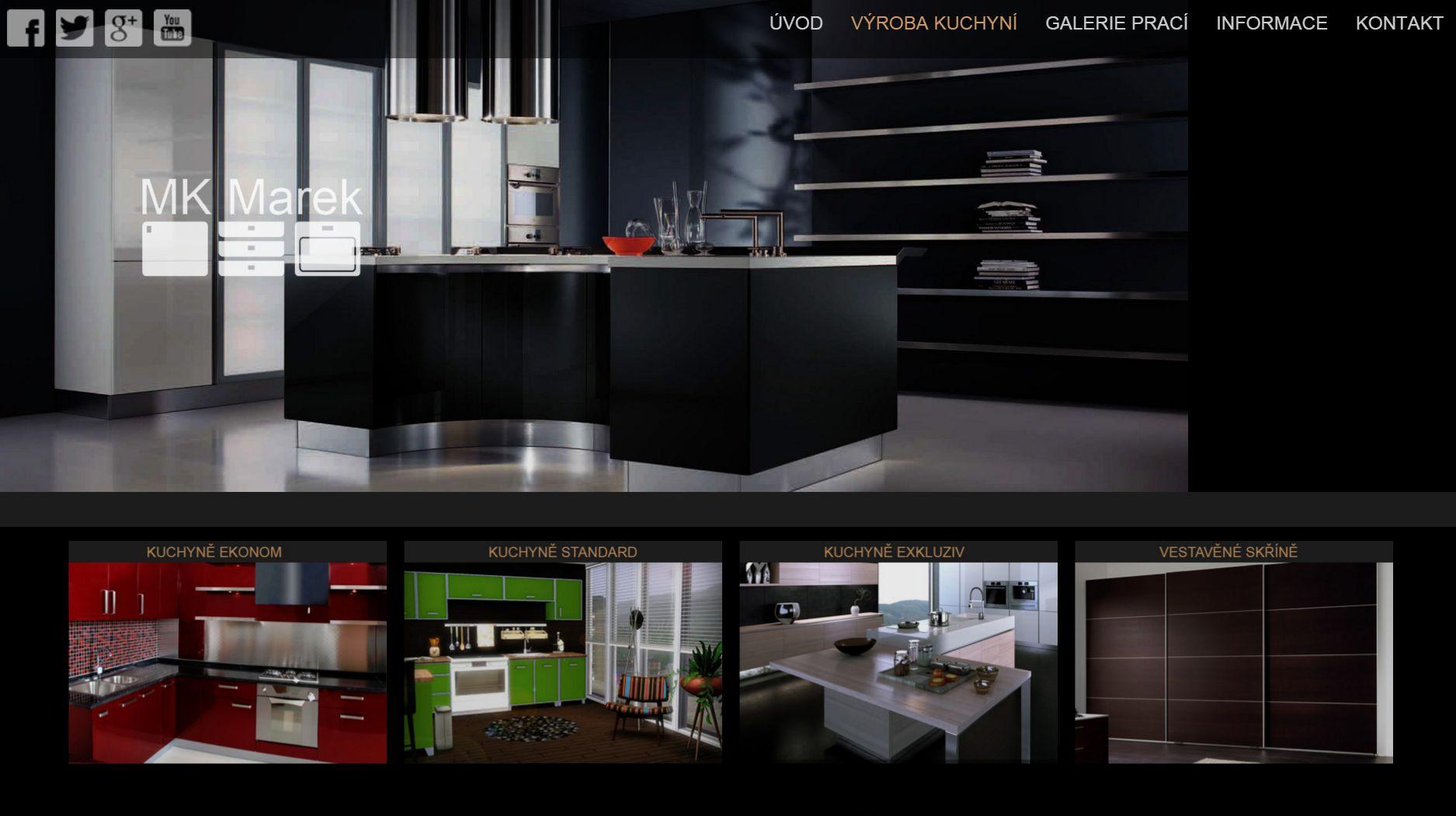 Výroba kuchyní - truhlářství MK Marek