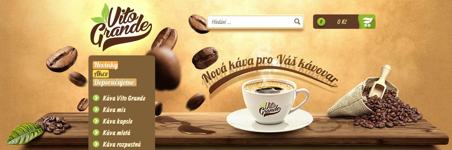 Prodej kávy Plzeň e-shop Vito Grande