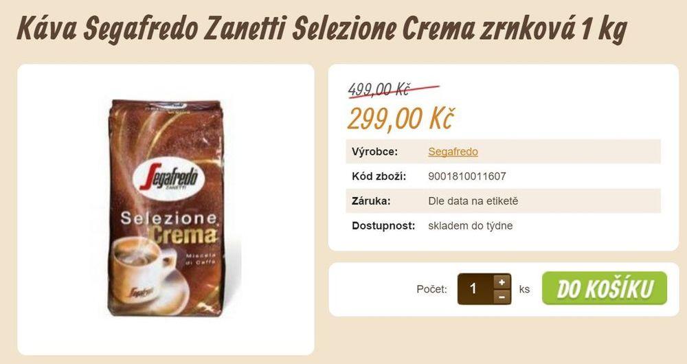 prodej kávy eshop