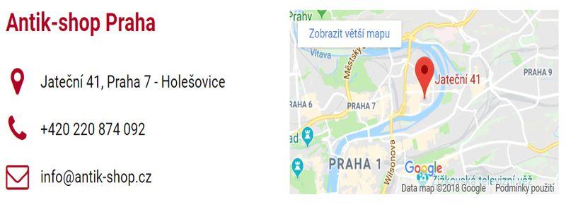 Antik-shop Praha - prodej starožitností - e-shop - kontakt