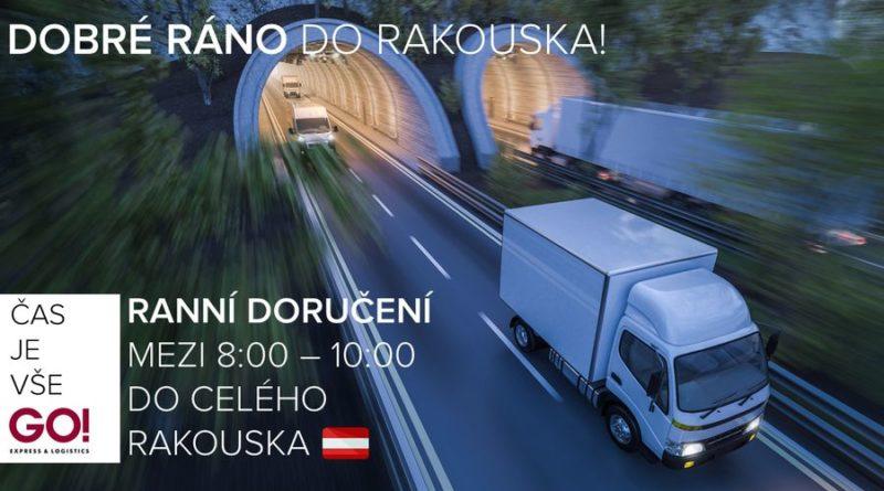 Expresní doručení zásilek - balíků i palet do Rakouska s GO!