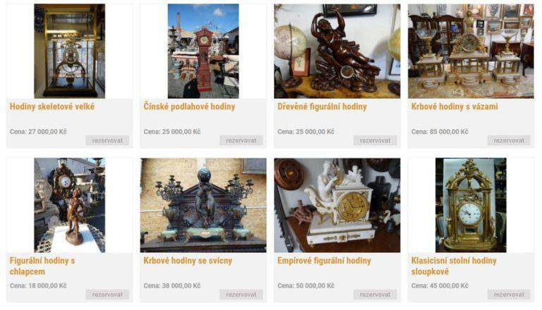Krbové hodiny, figurální hodiny. skeletové hodiny, bronzové, keramické, porcelánové
