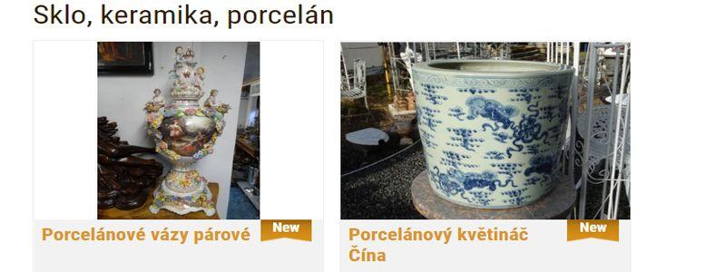 Prodej starožitného porcelánu