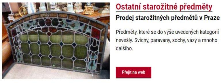 Prodej starožitných předmětů