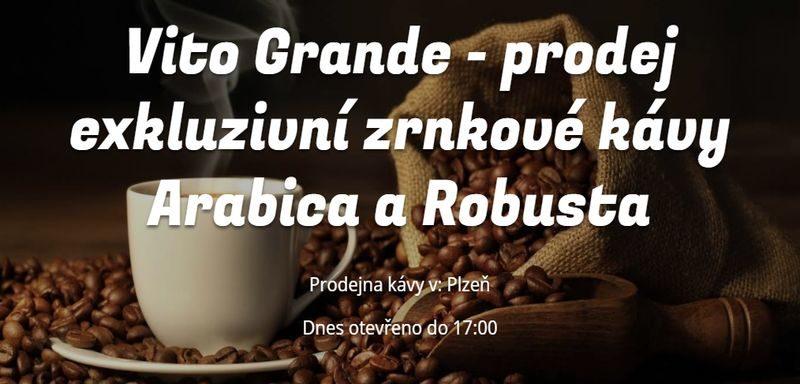 Vito Grande - prodej exkluzivní zrnkové kávy Arabica a Robusta
