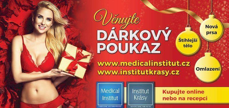 Dárkové poukazy jako vánoční dárek od Medical Institutu Plzeň i Salonu Andělské krásy Plzeň