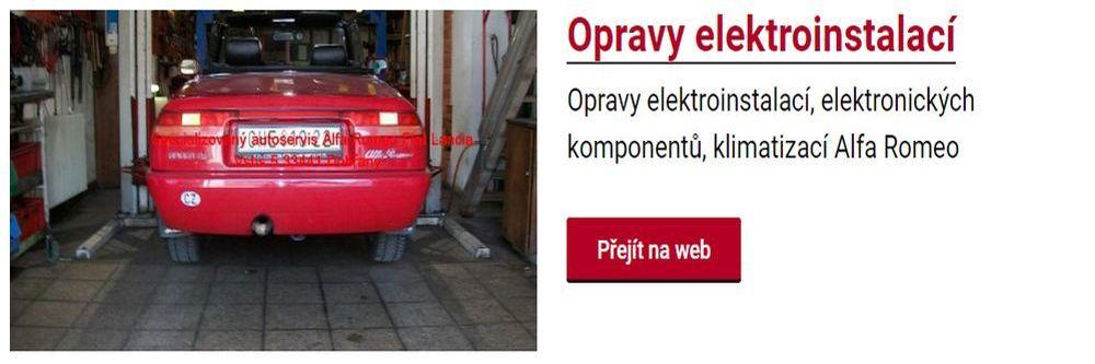 Opravy auto elektroinstalací v servisu Fiat v Plzni