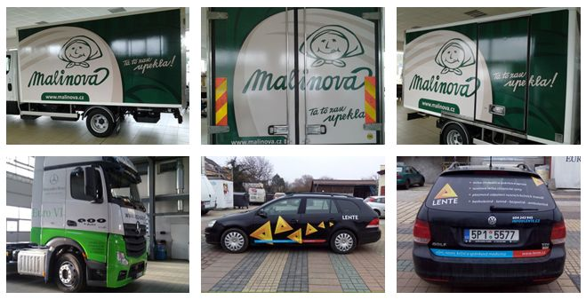 polepy aut v Plzni osobních i nákladních