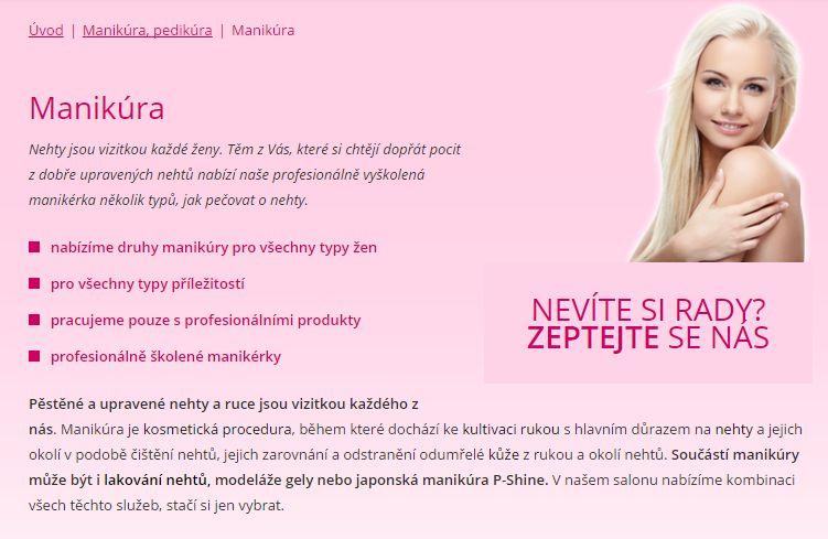 manikúra v Plzni - Salon Andělské krásy Plzeň