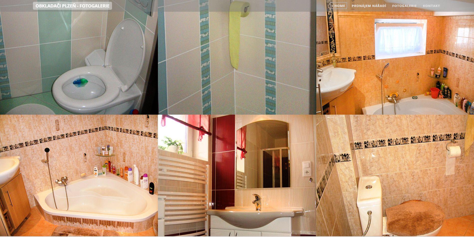 rekonstrukce koupelny - provedené obkladačské práce nejen v Plzni