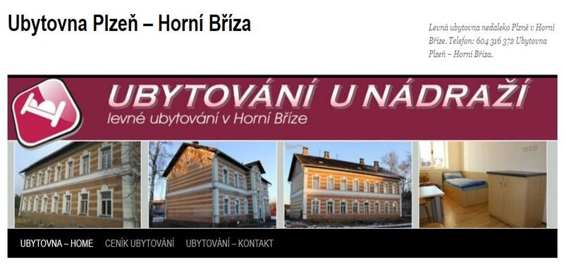 Ubytovna Plzeň – Horní Bříza