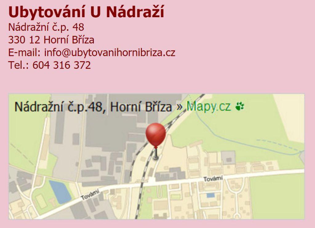 Ubytovna Plzeň – Horní Bříza ubytování U Nádraží