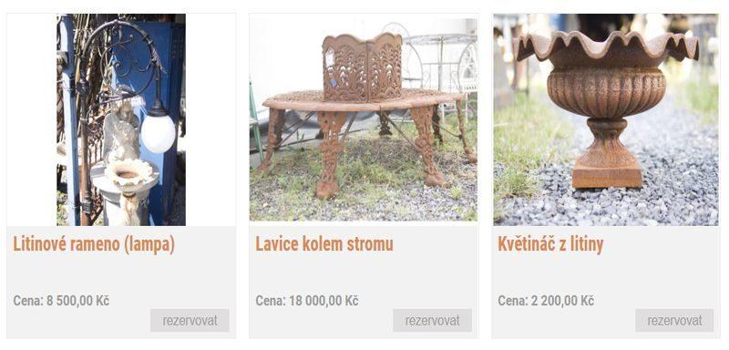 Prodej starožitných zahradních doplňků