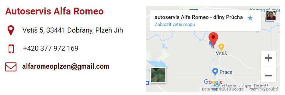 Autoservis Alfa Romeo Plzeň