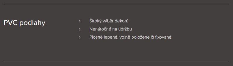 Podlahářství BOHEMIA Jiří Hochman - PVC podlahy